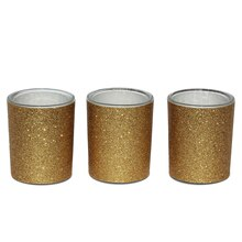 Celebrate It Occasions Votive Holders, Gold Glitter